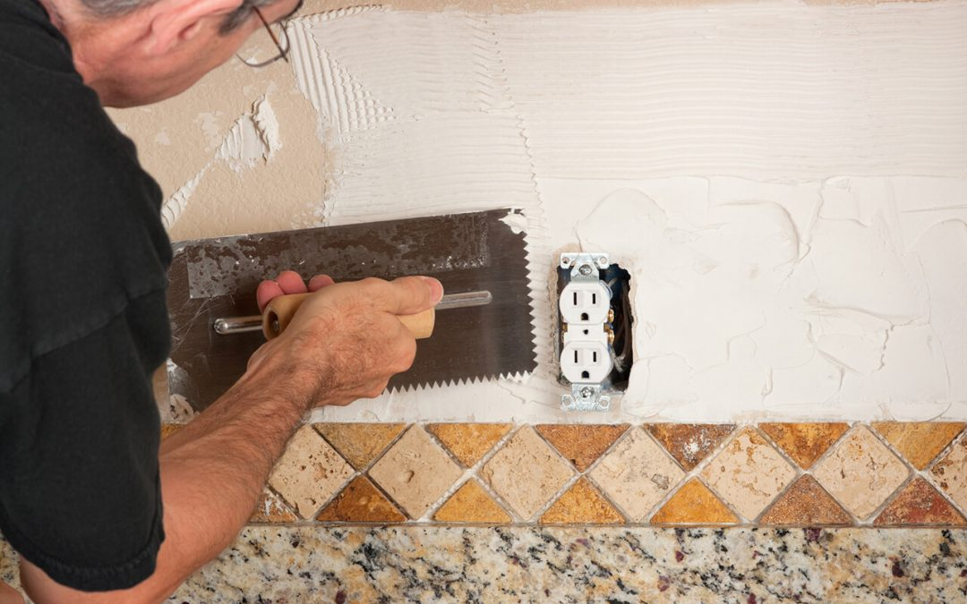 Great home improvement projects for winter include installing a backsplash