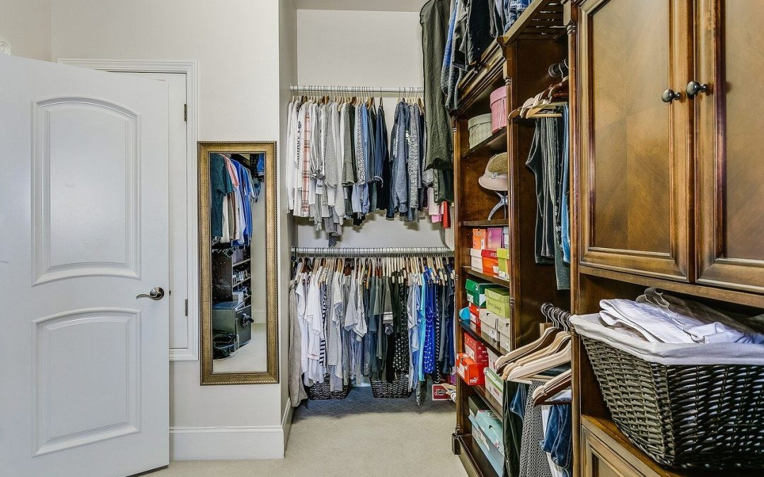organize your closets with bins and boxes